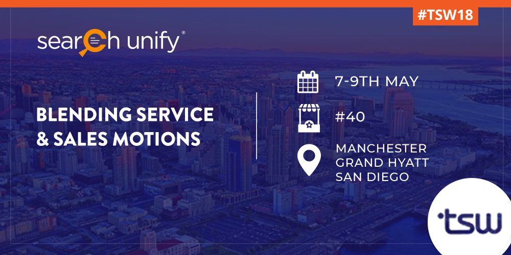 SearchUnify All Set to Exhibit at TSW San Diego 2018