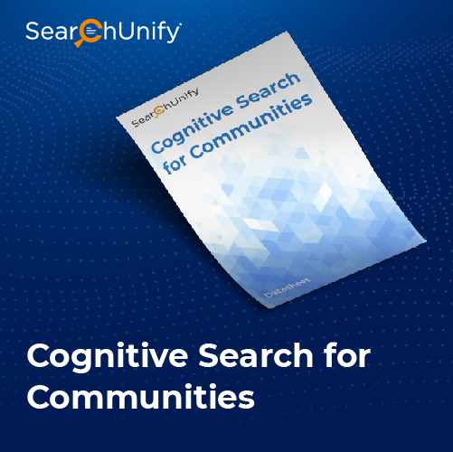 Cognitive Search for Communities