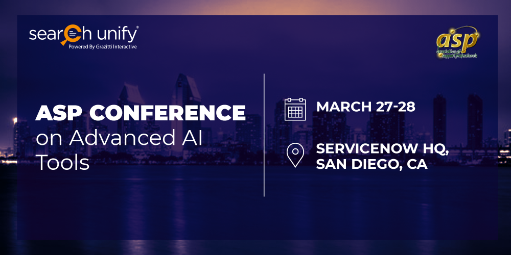 SearchUnify to Present at ASP Conference on Advanced AI Tool[...]