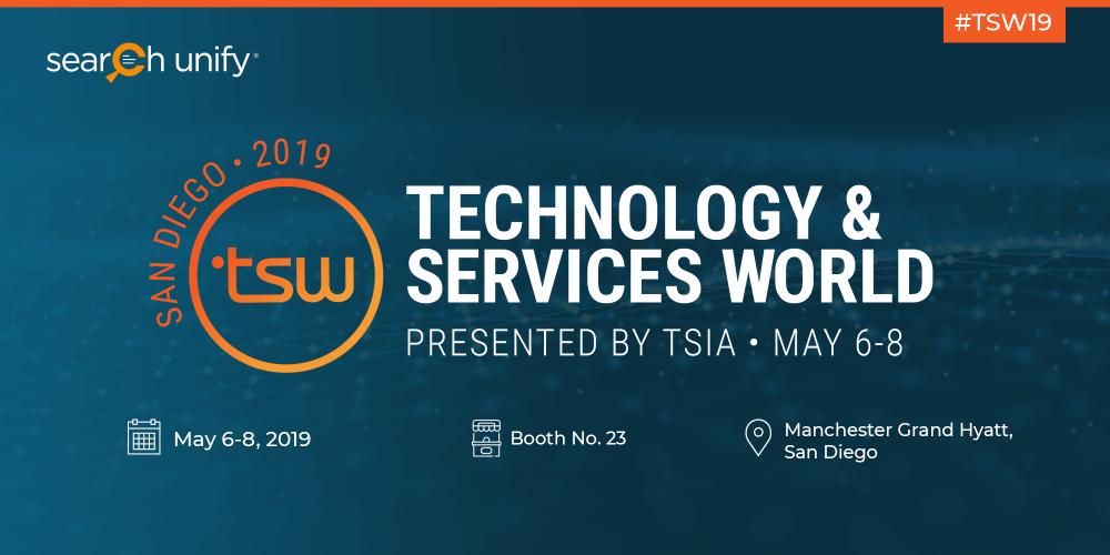 SearchUnify to Attend TSW San Diego 2019 & Lead a Sessi[...]