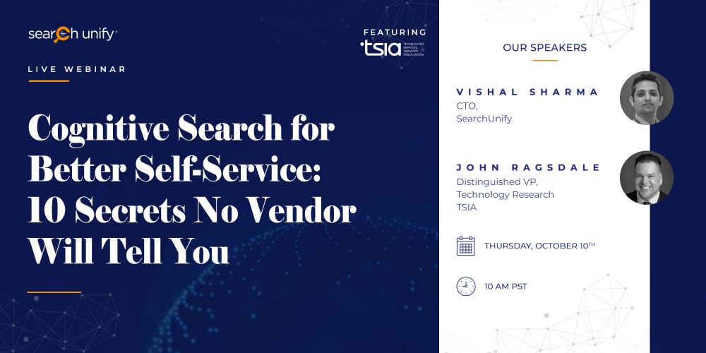 SearchUnify & TSIA to Host Webinar on Impeccable Search[...]