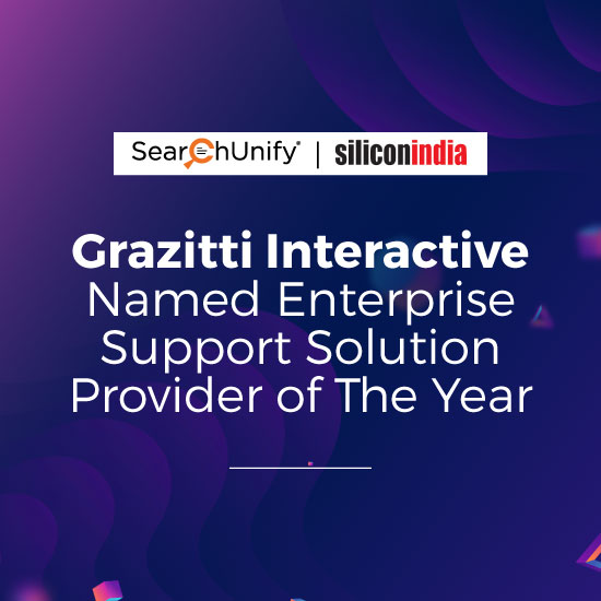 Grazitti Interactive Named Enterprise Support Solution Provider of the Year