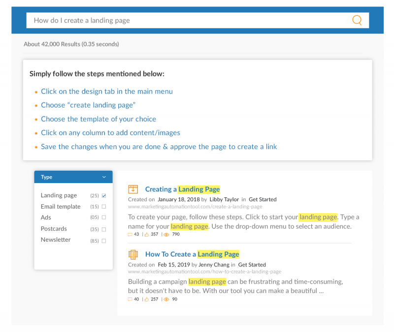 Guide Users to Relevant Results with a Smarter UI