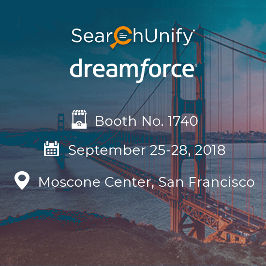 SearchUnify Set to Debut at Dreamforce 2018, Paves the Way for Cognitive Search Experiences