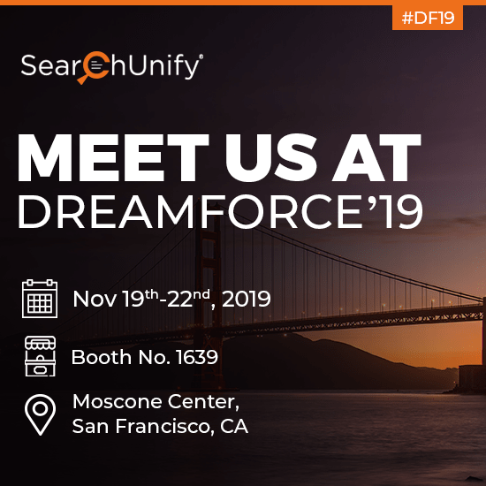 SearchUnify to Exhibit and Set the Trail Ablaze at Dreamforce '19