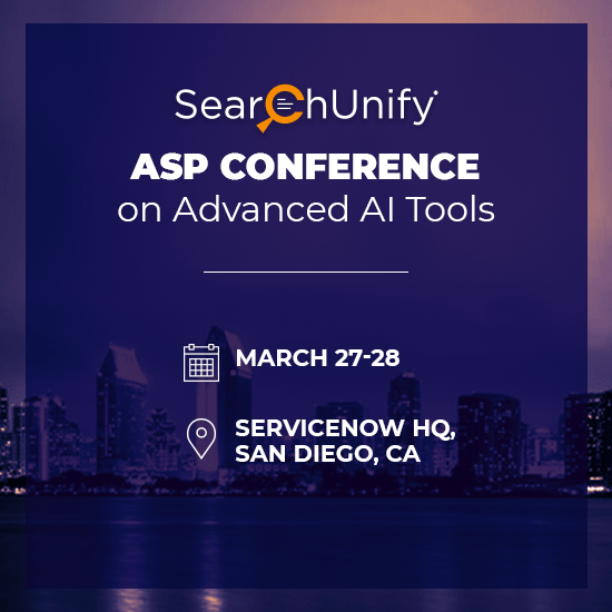 SearchUnify to Present at ASP Conference on Advanced AI Tools in San Diego