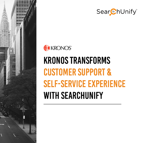 Kronos Transforms Customer Support & Self-Service Experience with SearchUnify