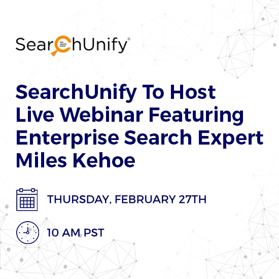 SearchUnify To Host Live Webinar On Augmented Intelligence: The Future of Enterprise Search