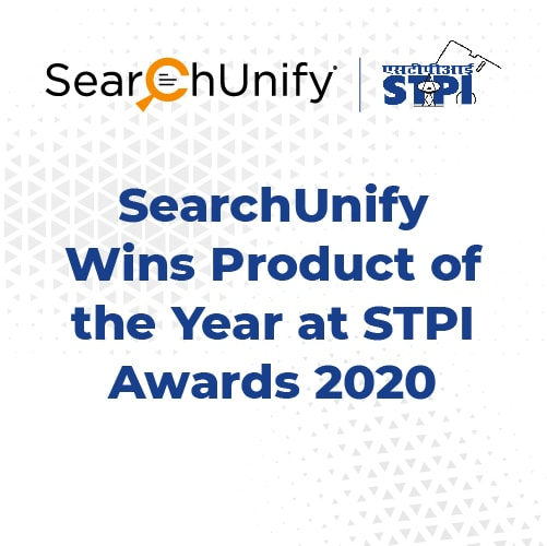 SearchUnify Wins Product of the Year at STPI Awards 2020