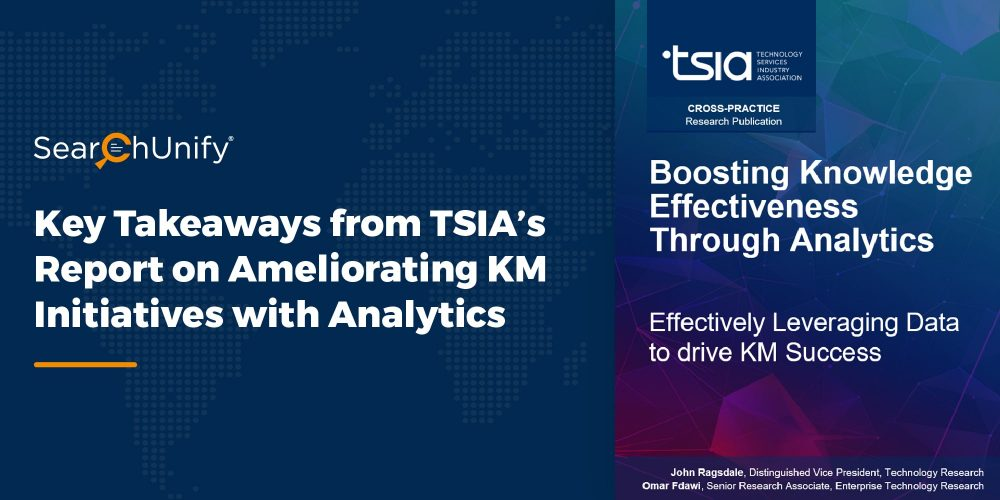 TSIA Reports Using Analytics to Boost Knowledge Effectiveness
