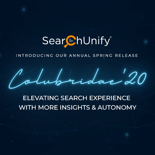 SearchUnify Announces Colubridae '20 to Elevate Search Exp...