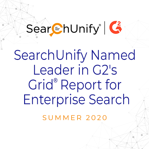 SearchUnify Named Leader in G2 Summer 2020 Grid® Report for Enterprise Search