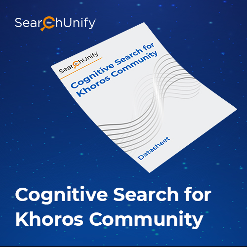 Cognitive Search for Khoros Community