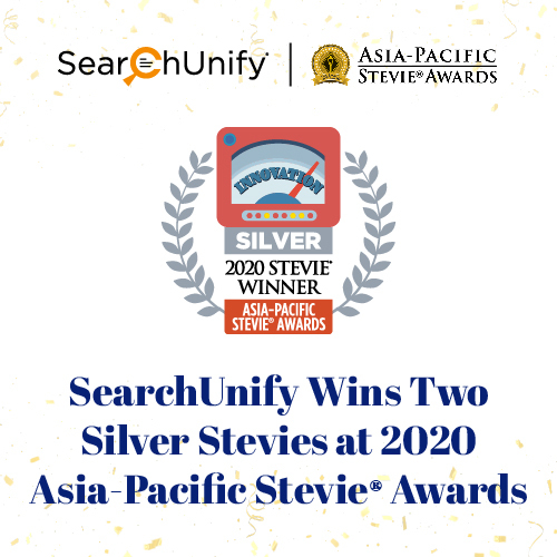 SearchUnify Wins Two Silver Stevie<sup>®</sup> Awards at 2020 Asia‑Pacific Stevie Awards