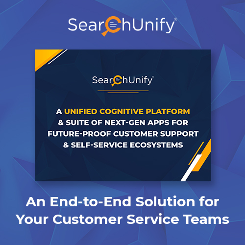 SearchUnify's Unified Cognitive Platform and Suite of Next-Gen Apps
