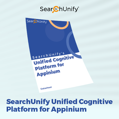 SearchUnify's Unified Cognitive Platform for Appinium