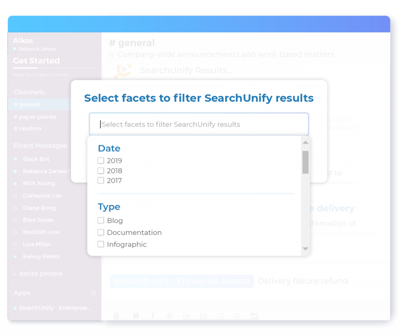 Personalize Search Results with Easily Selectable Facets