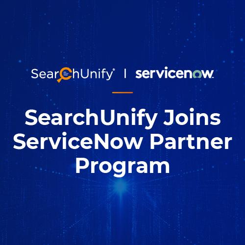 SearchUnify Joins ServiceNow Partner Program